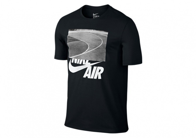 NIKE AIR SPLIT COURT TEE BLACK
