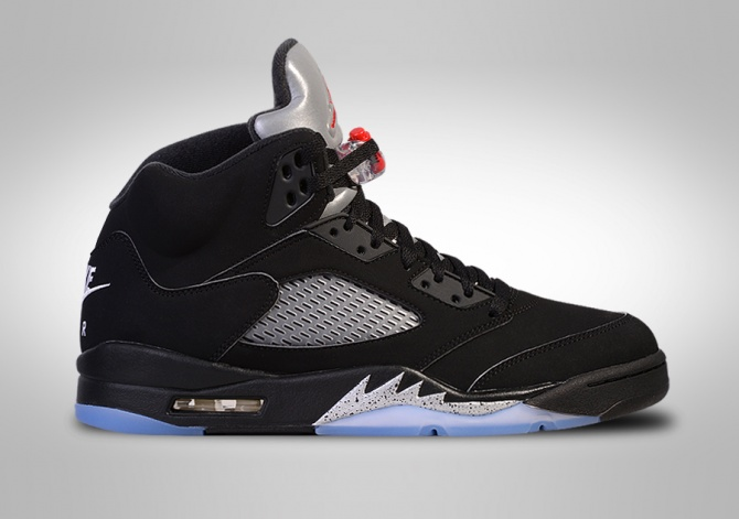 NIKE AIR JORDAN 5 RETRO OG BLACK METALLIC BG (SMALLER SIZE)
