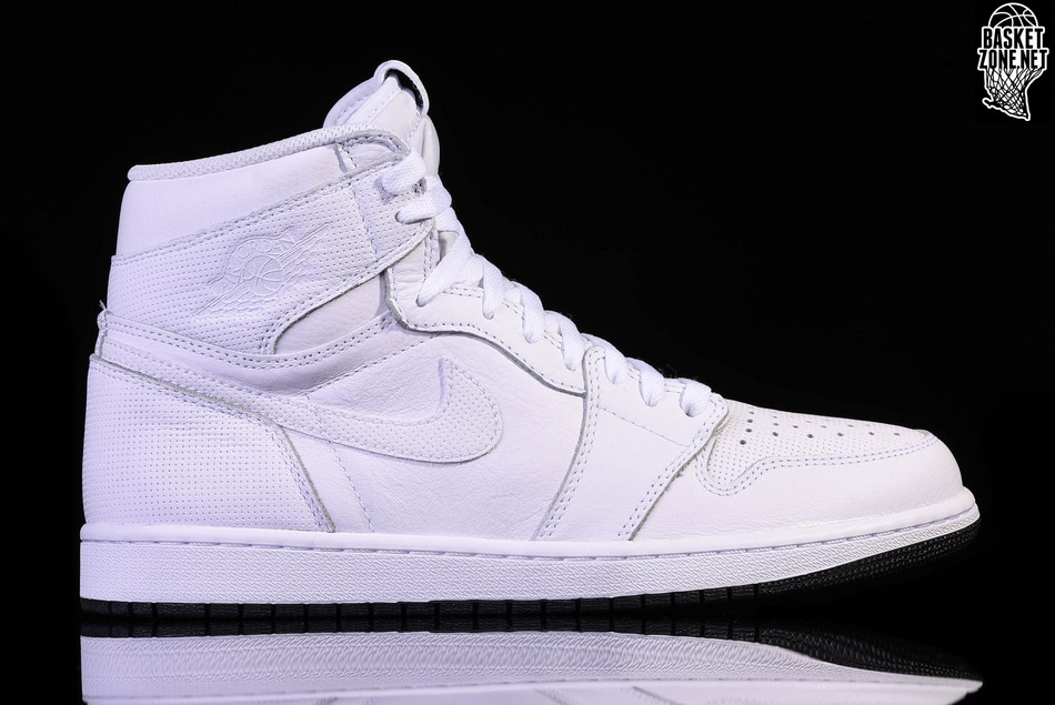 28466f50cb2b64 NIKE AIR JORDAN 1 RETRO HIGH OG WHITE PERFORATED PACK price €115.00 ...