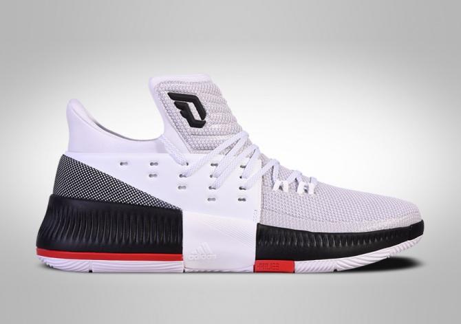 Adidas D Lillard - Zapatillas para Hombre, Color Blanco/Gris/Rojo, Talla 48 2/3