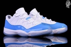 reputable site e9ff9 a5814 NIKE AIR JORDAN 11 RETRO LOW UNC NORTH CAROLINA BLUE