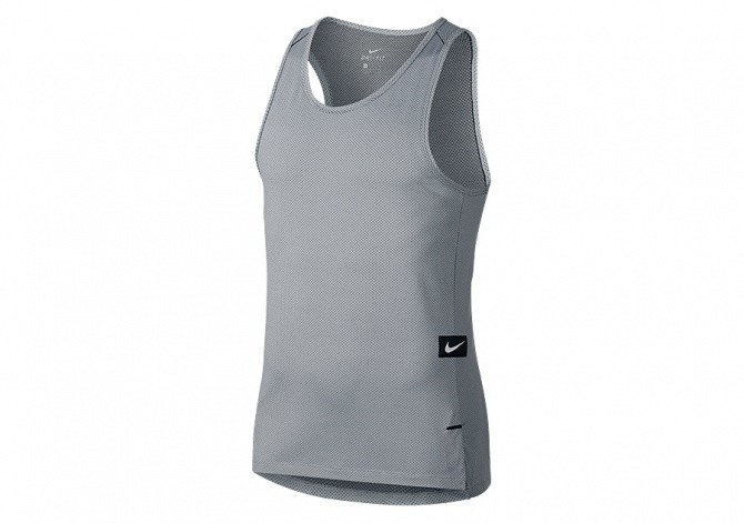 NIKE DRY KNIT HYPER ELITE BASKETBALL TOP WOLF GREY