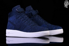 NIKE AIR FORCE 1 ULTRA FLYKNIT MID COLLEGE NAVY pour €127 a785a5d7c