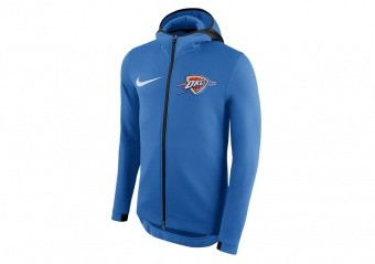 NIKE NBA OKLAHOMA CITY THUNDER THERMA FLEX SIGNAL BLUE