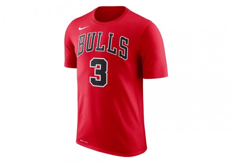 NIKE NBA CHICAGO BULLS TEE N&N UNIVERSITY RED