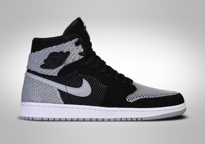 NIKE AIR JORDAN 1 RETRO HIGH FLYKNIT BLACK SHADOW BG