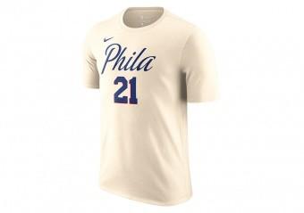 2fa5e241a9f NIKE NBA JOEL EMBIID PHILADELPHIA 76ERS CITY EDITION DRY TEE NATURAL WHITE