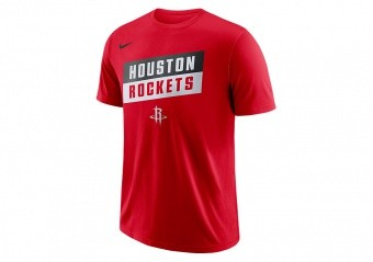 NIKE NBA HOUSTON ROCKETS DRY TEE UNIVERSITY RED