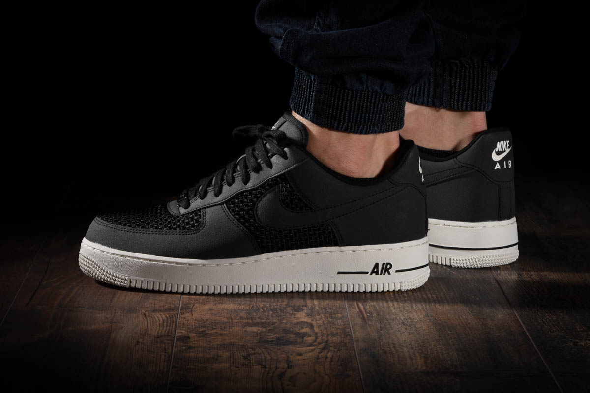Nike Air Force 1 Woven Trainers In Black AQ8624 001