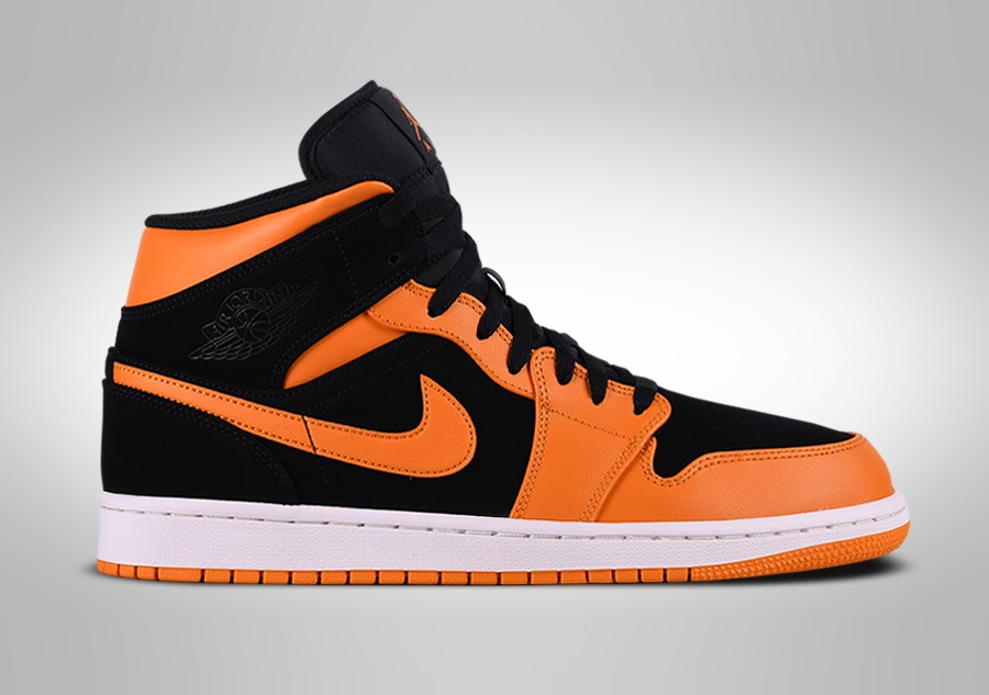 best loved 0f5bc 028c4 NIKE AIR JORDAN 1 RETRO MID BLACK ORANGE PEEL
