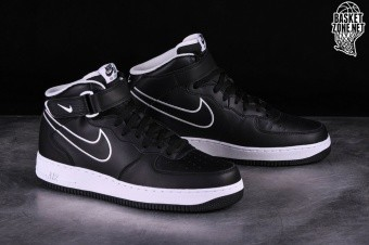 2b533606dbff NIKE AIR FORCE 1 MID  07 LTHR BLACK pour €97