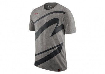 NIKE NBA CLEVELAND CAVALIERS LOGO TEE DARK GREY HEATHER