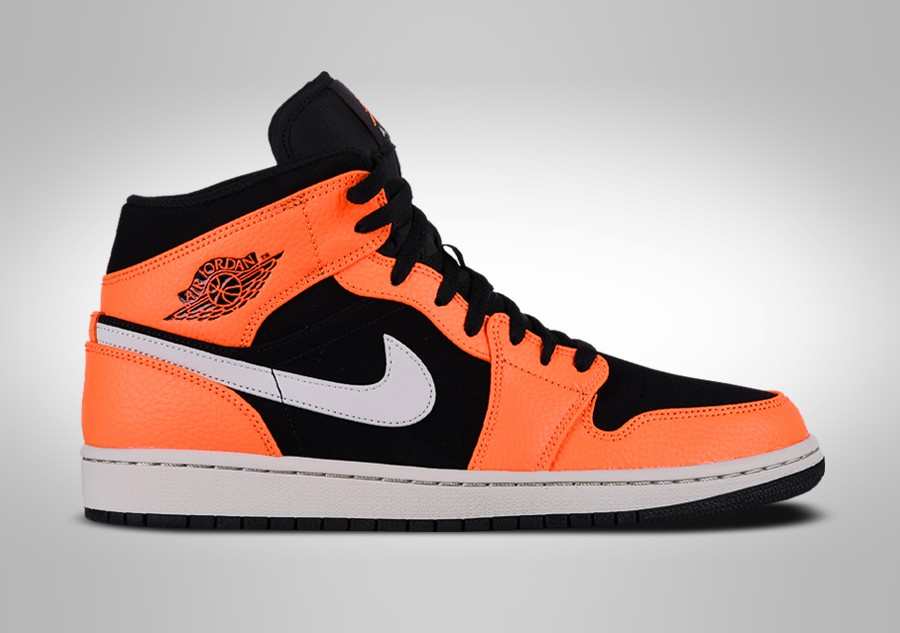 best sneakers dad54 c8c9e NIKE AIR JORDAN 1 RETRO MID BLACK ORANGE