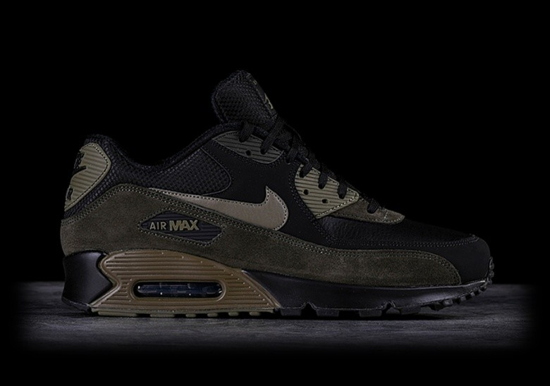 NIKE AIR MAX 90 LEATHER MEDIUM OLIVE
