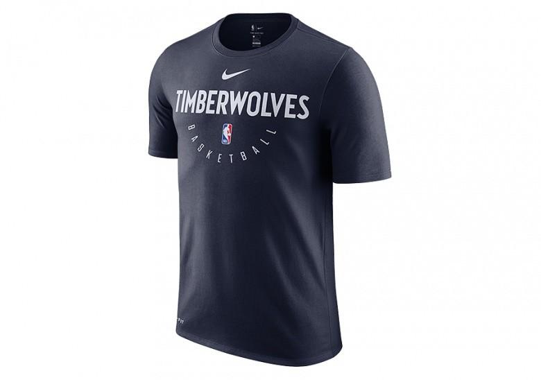 NIKE NBA MINNESOTA TIMBERWOLVES DRY TEE COLLEGE NAVY