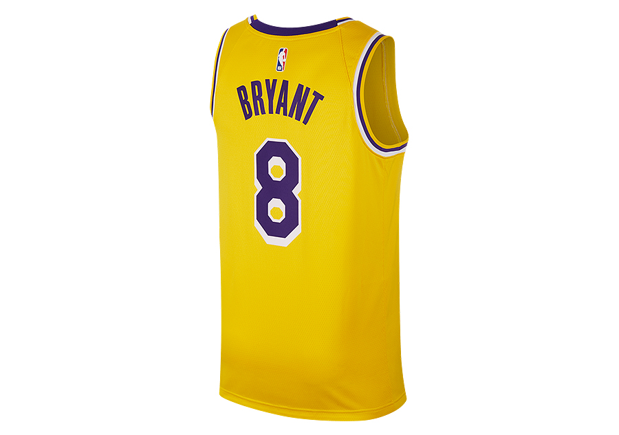 dfc472f59f9 NIKE NBA LOS ANGELES LAKERS KOBE BRYANT SWINGMAN ROAD JERSEY AMARILLO