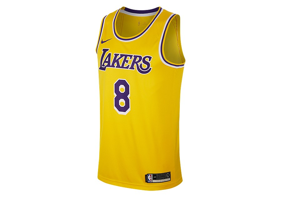 detailing d5eb3 34410 NIKE NBA LOS ANGELES LAKERS KOBE BRYANT SWINGMAN ROAD JERSEY ...