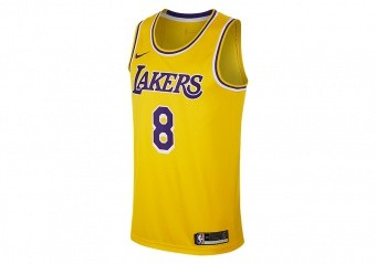 84717290a T-SHIRTS. NIKE NBA LOS ANGELES LAKERS KOBE BRYANT SWINGMAN ROAD JERSEY  AMARILLO