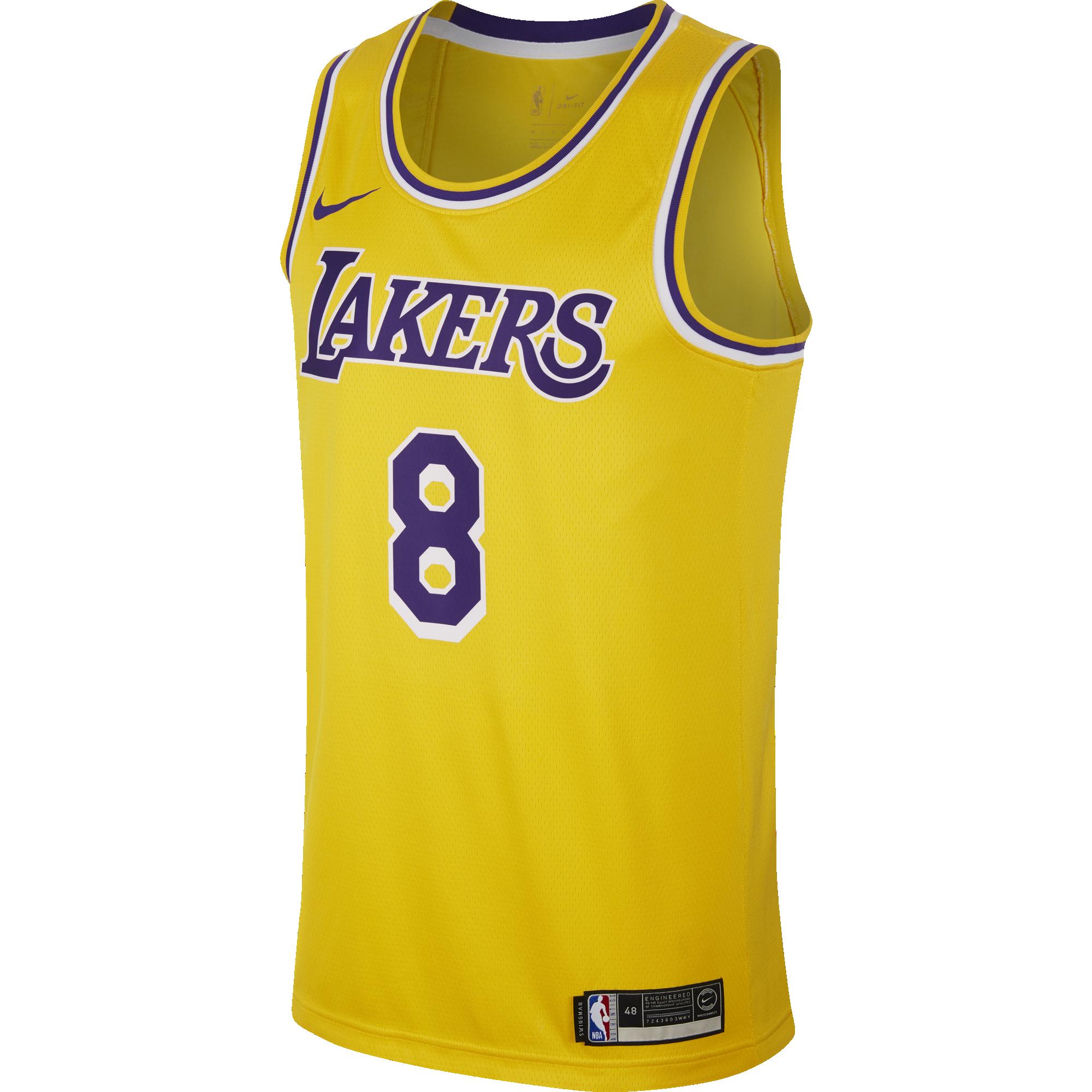 NIKE NBA LOS ANGELES LAKERS KOBE BRYANT SWINGMAN ROAD JERSEY
