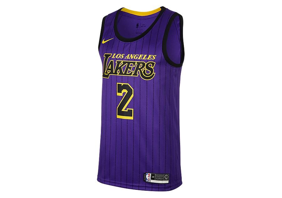 NIKE NBA LOS ANGELES LAKERS LONZO BALL SWINGMAN JERSEY FIELD PURPLE ... 6b86cc8f0