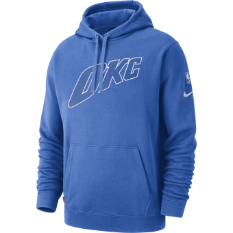 NIKE NBA OKLAHOMA CITY THUNDER COURTSIDE HOODIE SIGNAL
