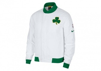 NIKE NBA BOSTON CELTICS COURTSIDE JACKET WHITE