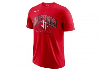NIKE NBA HOUSTON ROCKETS CREST DRY TEE UNIVERSITY RED