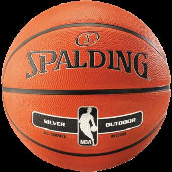 SPALDING NBA SILVER OUTDOOR (SIZE 6)