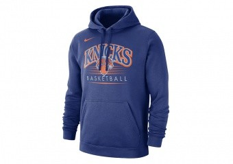 NIKE NEW YORK KNICKS CREST HOODY RUSH BLUE