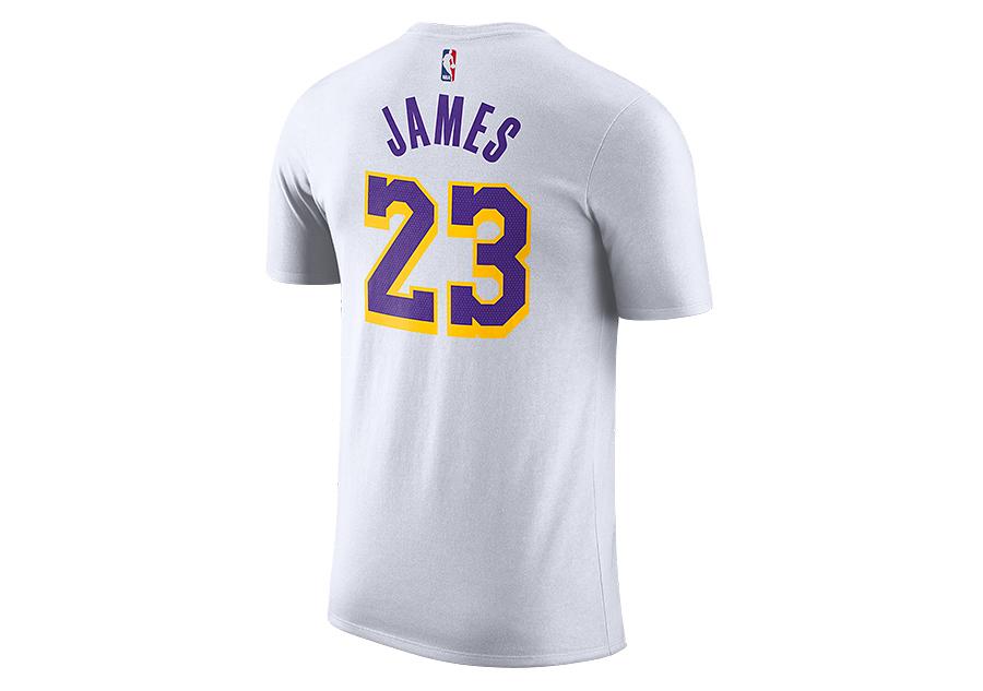 a4be32ca36363 NIKE NBA LOS ANGELES LAKERS LEBRON JAMES DRY TEE WHITE cena 819,00kč ...