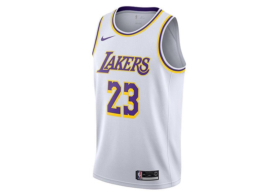 b8b5fcdce04 NIKE NBA LOS ANGELES LAKERS LEBRON JAMES SWINGMAN HOME JERSEY WHITE per  €67,50 | Basketzone.net