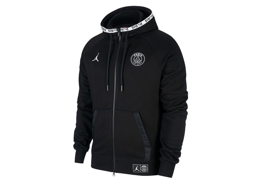 Nike Jordan Paris Saint Germain Full Zip Wings Hoodie Black