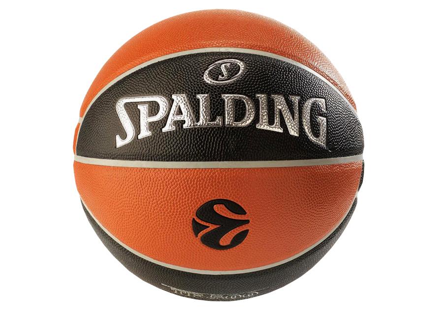 Spalding Europleague Bal/ón de Baloncesto TF150 Replica Noir//Orange 7