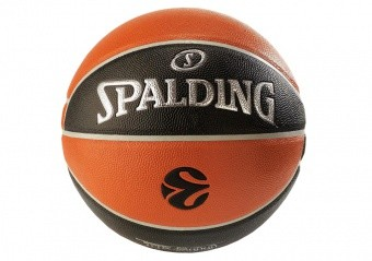 SPALDING EUROLEAGUE TF 500 IN/OUT (SIZE 7) ORANGE/BLACK