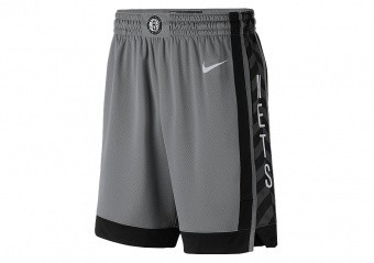 NIKE NBA BROOKLYN NETS SWINGMAN SHORTS DARK STEEL GREY