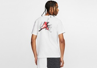 NIKE AIR JORDAN JUMPMAN CLASSICS GRAPHIC TEE WHITE