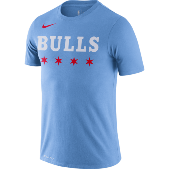 NIKE NBA CHICAGO BULLS CITY EDITION LOGO DRI-FIT TEE