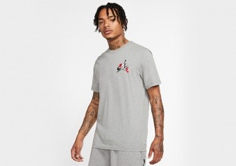 NIKE AIR JORDAN JUMPMAN CLASSICS GRAPHIC TEE CARBON HEATHER