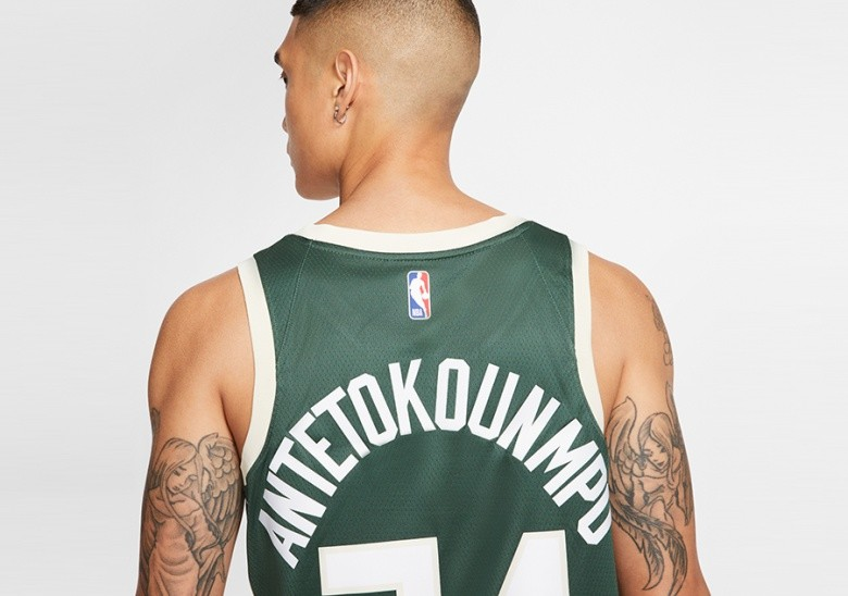 NIKE NBA MILWAUKEE BUCKS GIANNIS ANTETOKOUNMPO SWINGMAN JERSEY ROAD FIR