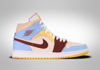 NIKE AIR JORDAN 1 RETRO MID SE FEARLESS MAISON CHATEAU ROUGE