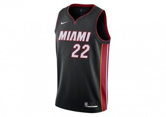 NIKE NBA MIAMI HEAT JIMMY BUTLER ICON EDITION SWINGMAN JERSEY BLACK