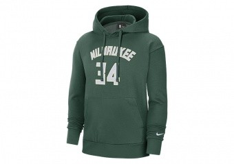 NIKE NBA MILWAUKEE BUCKS GIANNIS ANTETOKOUNMPO HOODIE FIR