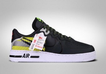 NIKE AIR FORCE 1 LOW REACT LX 3M PACK BLACK