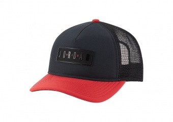 NIKE AIR JORDAN JUMPMAN AIR CLASSIC99 JM AIR TRUCKER CAP BLACK GYM RED