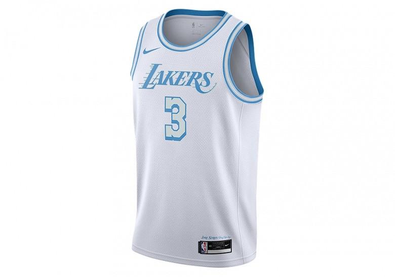 NIKE NBA LOS ANGELES LAKERS ANTHONY DAVIS CITY EDITION SWINGMAN ...