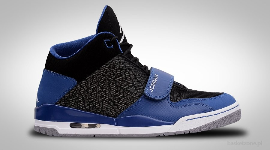 NIKE AIR JORDAN FLTCLB 90's BLACK BLUE ROYAL