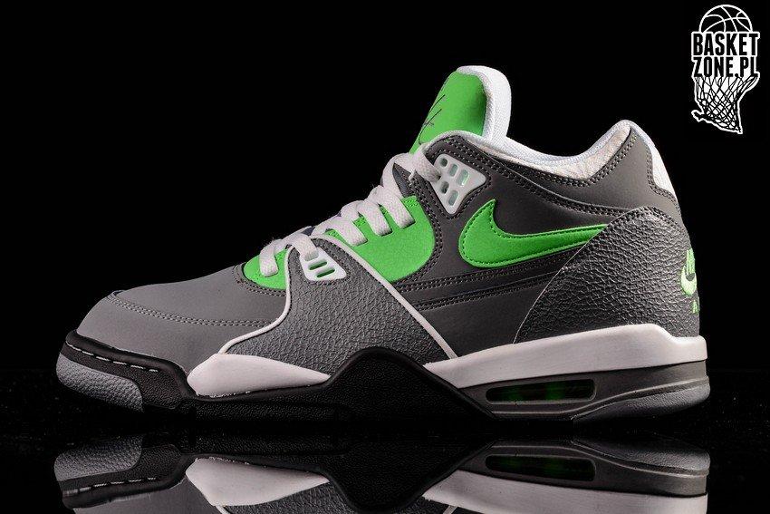 Genuine Nike Air Flight 89 Cool Grey Poison Green White Black TopDeals