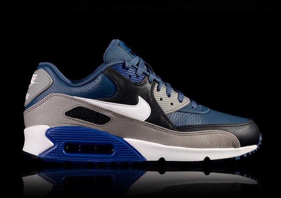 on sale 6826c 4b96b ... sale nike air max 90 leather gym blue 7d51c 2b16f