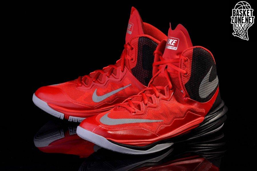 Nike Prime Hype DF II - Zapatillas Unisex, Color Rojo/Plata/Negro, Talla 41.5